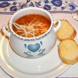 Classic Minestrone Soup on BigOven: Warm, tangy, spicy, and filling. This classic Italian soup combines vegetables, beans and pasta for it's hardy goodness.: Promise Recipes, Promi Recipes, Soups Recipes, Italian Soup, Favorite Recipes