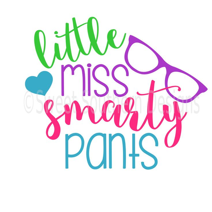 Little Miss Smarty pants with glasses back to school SVG DXF instant download design for cricut or silhouette by SSDesignsStudio on Etsy https://www.etsy.com/listing/456477204/little-miss-smarty-pants-with-glasses