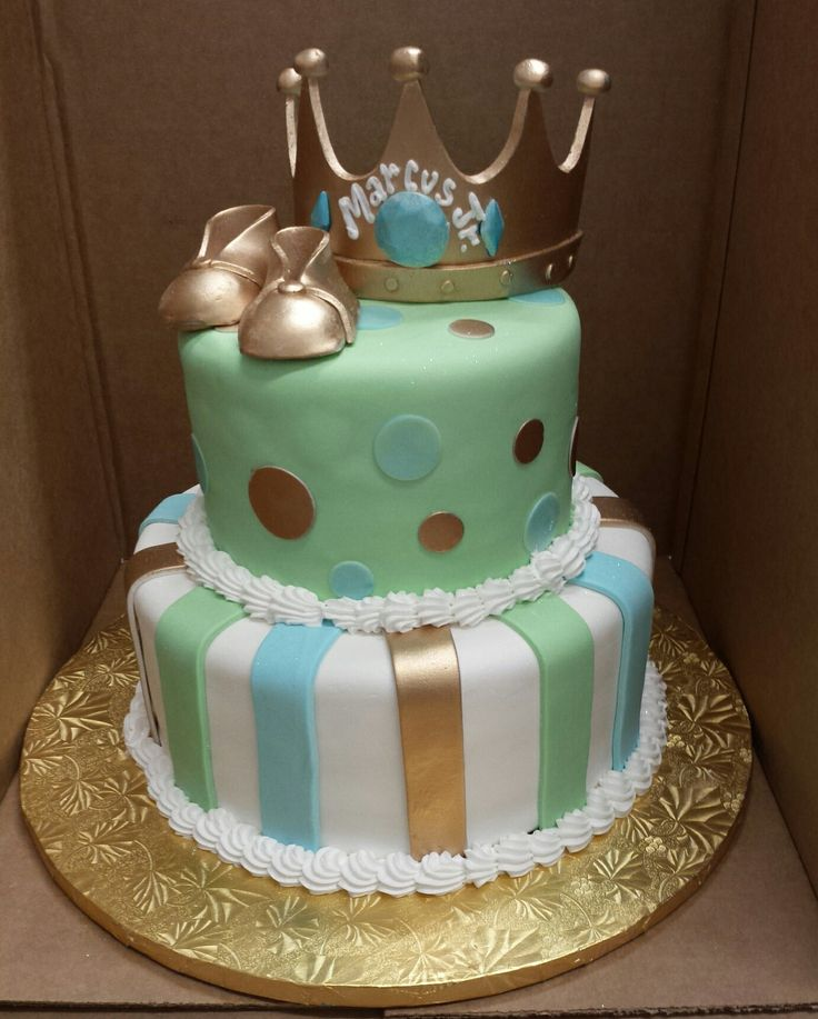 Crowns For Baby Shower: Calumet Bakery Baby King Crown And Shoes Baby Shower Cake