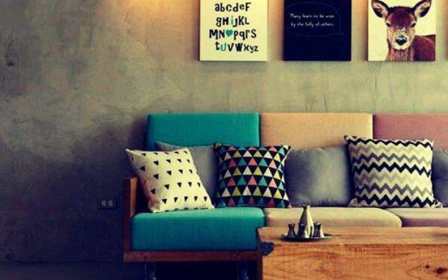 Toque acolhedor para a sala de estar