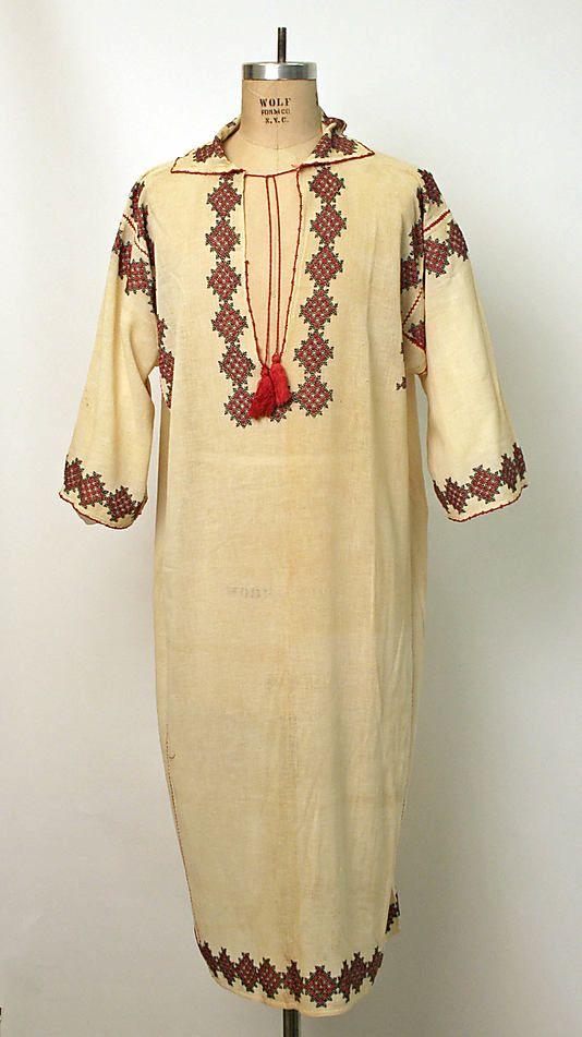 Shirt Date: early 20th century Culture: Romanian Medium: cotton