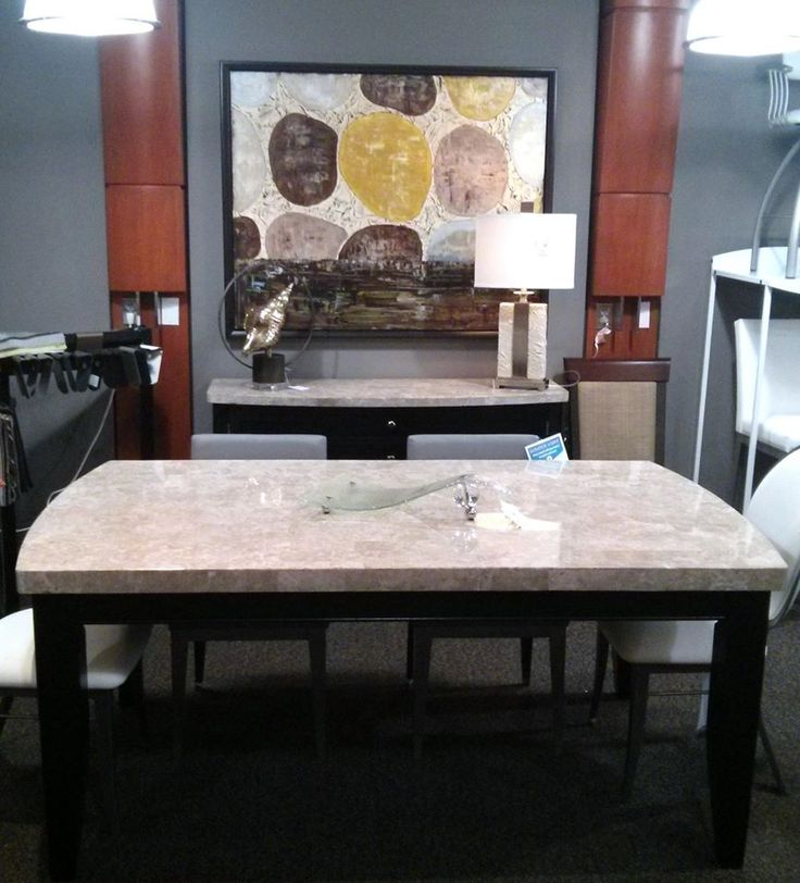 Marble Top Dining Table And ServerThe Upper Room Home Furnishings Ottawas Premier
