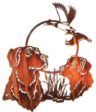 Hunting Pals 18-inch Rustic Metal Wall Art - Rustic - Artwork - by ...