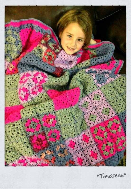 Crochet blanket My first ever crochet project... By Kari