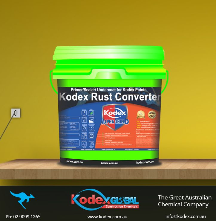 Now protect your iron furniture, fences, gates sheet metal and many more with Kodex Rust Converter. This product is completely water based rust conversion and primer which is environmentally friend, non-flammable, promotes adhesion and easy to apply. Click here to find more http://www.kodex.com.au/wp-content/uploads/2015/02/Kodex-Rust-Converter.pdf #paint #Primer #Coating