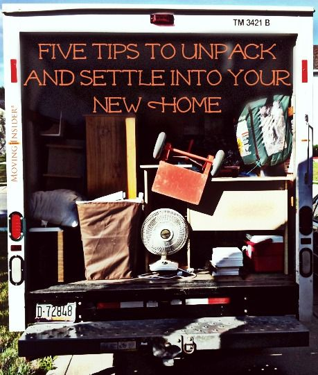 Settling into your new home can be a little messy with all of your belongings, so here are our five tips to unpacking your new home!