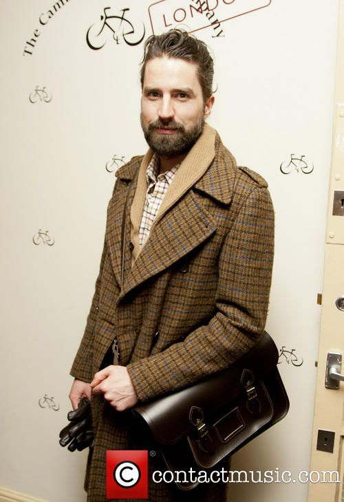 "Jack Guinness sporting his 15"" Dark Brown Satchel at our Covent Garden Store Launch www.cambridgesatchel.com/buy/the-classic/dark-brown/15-inch/ #CSCSpotted"