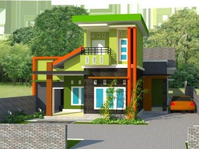 Contoh Kombinasi Cat Rumah Minimalis Warna Hijau in 2020 ...