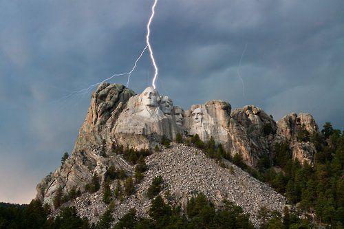 Storm at Mt. Rushmore.