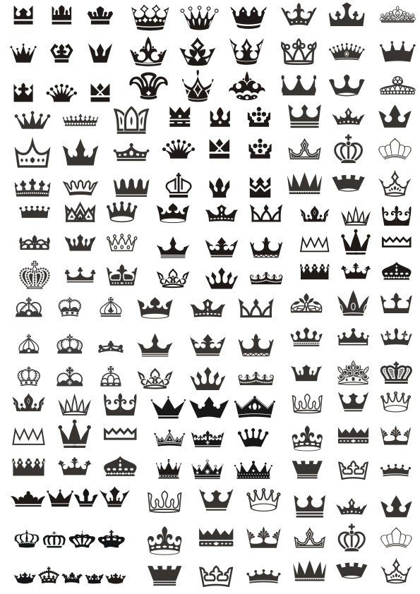 b596d75a23ca Royal Crown Set Vector Free Vector cdr Download | 3D Puzzle | Vector ...