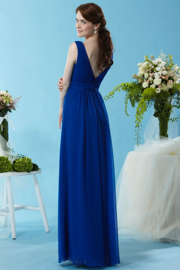 34 best eden bridesmaids images on pinterest brides bridesmaid eden bridesmaids 7450 this flowy chiffon gown is made with a v neckline and double ombrellifo Images