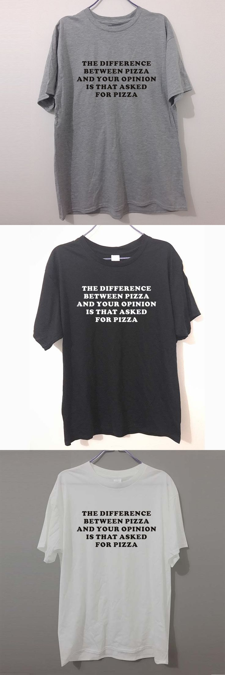 Fashion Brand PIZZA SLOGAN PRINTED Camisetas men's short sleeve T-shirt cotton Round collar white gray Black programmer T Shirt