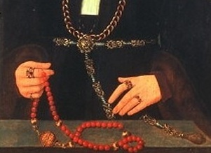 Medieval Pomanders with Rosary, 15th Century) Medieval Rosary and Paternoster