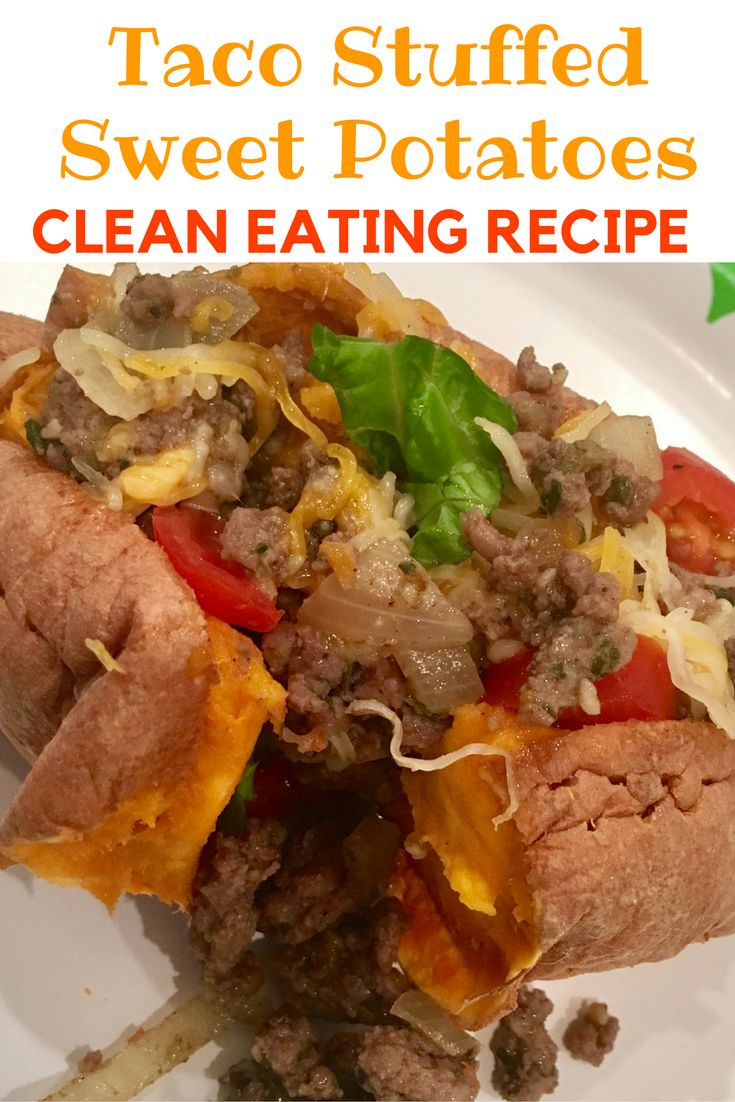 Amazing taco stuffed sweet potato recipe! It's the best one you'll find out there and is perfectly healthy and great for clean eating. Only takes 15 minutes to make! Kid friendly and family approved! Also 21 day fix approved!