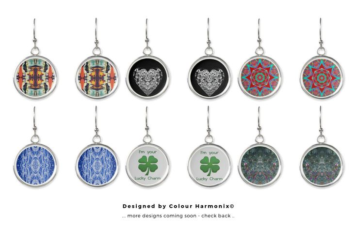 #Drop#Earrings designed by #ColourHarmonix each of which bear interesting design elements, #Art for the ears.
