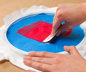 Silk-screen printing may sound exotic, but trust us: it's inexpensive and kid-friendly, thanks to this technique. Here's how to make T-shirts, totes, napkins, and more.