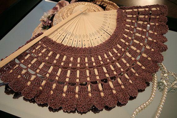 In the Pavillion Hand Fan - Crochet Pattern, Instant Download - could make my own fan!