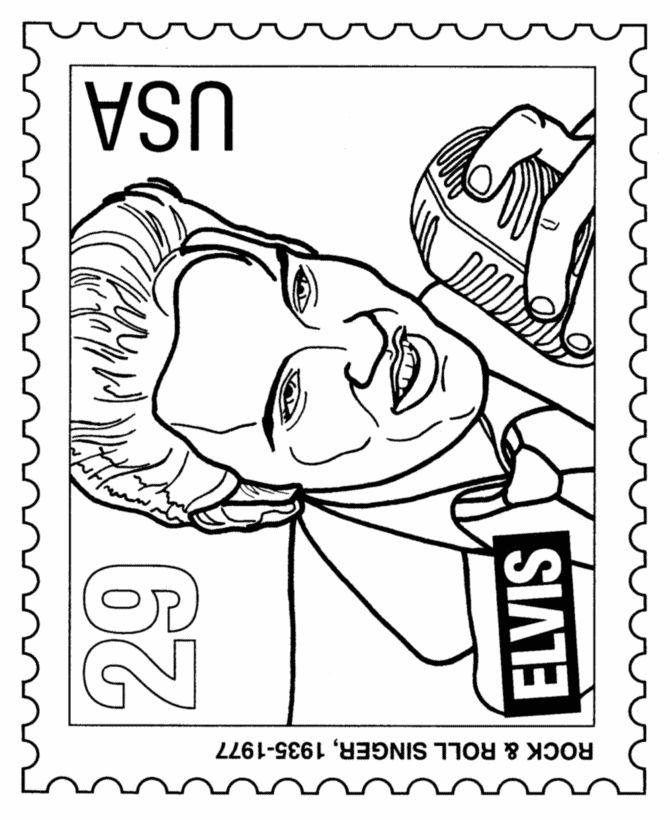 postage stamp coloring pages