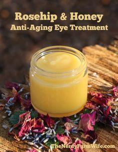 Rosehip & Honey balm; 6tbsp sweet almond, jojoba OR sunflower oil, 2tbsp beeswax, 1/2 tbsp raw honey, 2 tbsp rosehip seed oil & 3 drops lavender essential (optional)