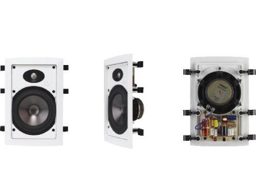 TC Group 80003750 TANNOY LOW PROFILE MOULDED IN WALL SPEAKER WITH WIDEBAND TECHNOLOGY,PAINTABLE GR