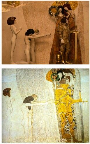 on the occasion of 23rd edition of Life Ball that took place in Vienna, photographer Inge Prader made incredible photographs in tribute to Gustav Klimt's Golden phase. Settings of iconic paintings were recreated with models specially dressed for this artistic performance