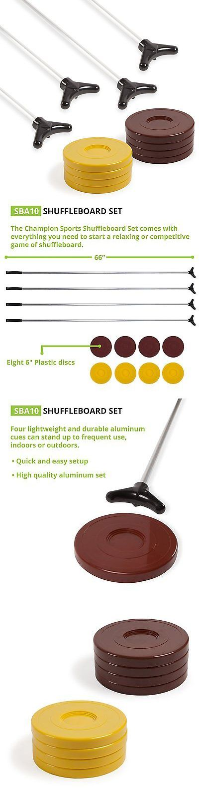Shuffleboard 79777: Indoor Outdoor Shuffleboard Cue Puck Set Four 66 Lightweight Aluminum Cues New -> BUY IT NOW ONLY: $73.79 on eBay!