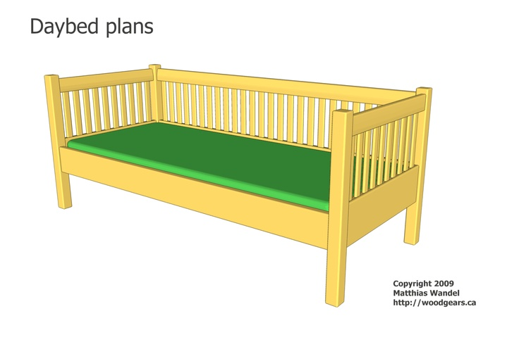 23 best images about diy beds on pinterest bed rails for Diy outdoor daybed plans