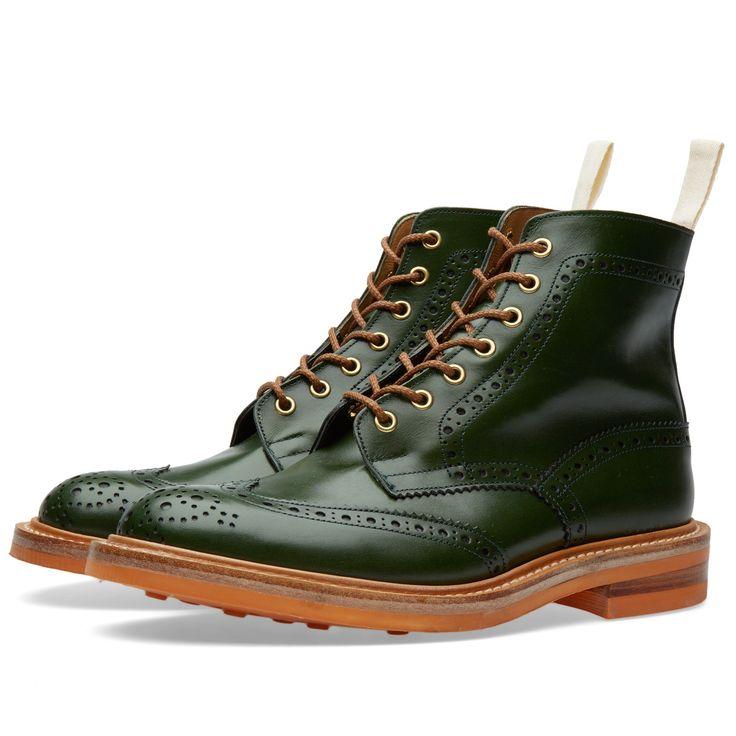 X Tricker's Club Sole Boot (Green), handmade in England. 510