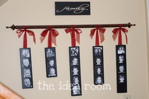 """Great joint-sibling gift idea. Each family has a photo """"strip"""" - then whole thing goes to the grandparents! Love it!"""