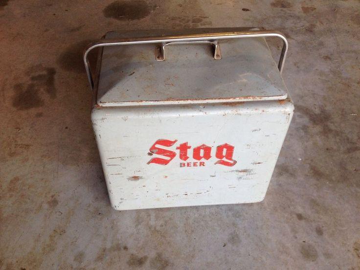 Vintage Metal Stag Beer Cooler