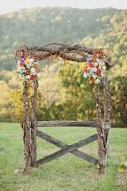 Image result for how to make a rustic wedding alter