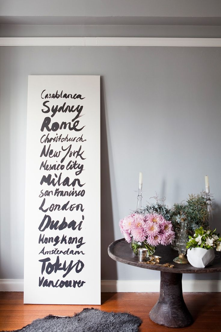 An easy DIY of your favorite cities.