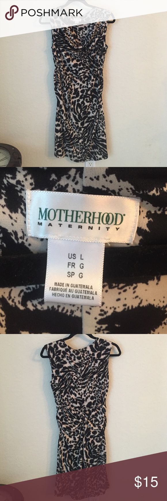 Beautiful animal print Motherhood Maternity  dress Like new condition, wore once. I adore this dress! If only it weren't maternity! Motherhood Maternity Dresses