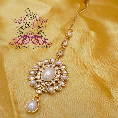 Pearl Antique Maang tikka - Online Shopping for Maang Tikkas by Sanvi Jewels Pvt. Ltd.