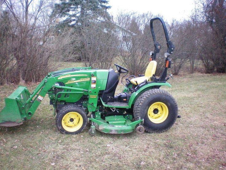 john deere tractor 2520 compact tractor / loader / mower #JohnDeere