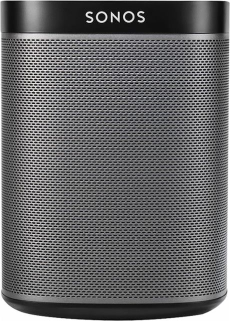 Sonos - PLAY:1 Wireless Speaker for Streaming Music - Black - Front_Zoom
