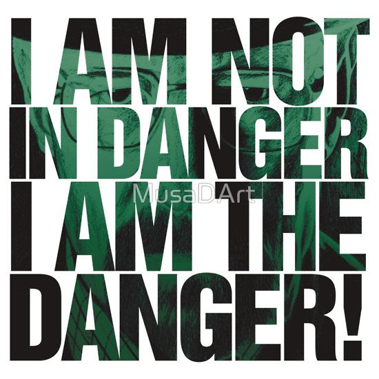 Danger Man Breaking Bad (Walter White) Available to buy on… T-Shirts £17.80 Stickers £2.49