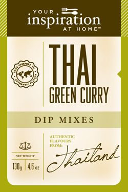 Thai Green Curry Dip Mix  Rich, lively Thai flavours - perfect for marinating chicken and seafood.  www.stephaniebennett.yourinspirationathome.com.au www.facebook.com/stephaniebennett.yourinspirationthome.
