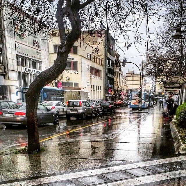 """#city #citylife #larissa #larissacity #traffic #cars #dailylife #rainyday #rainyweather #winter #friday #igers #igers_greece #instalife #snapseed #vsco…"""