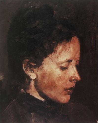 Portrait of Olga Serova - Valentin Serov