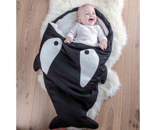 Cápás hálózsák, levegőztető babakocsiba babáknak, újszülötteknek.