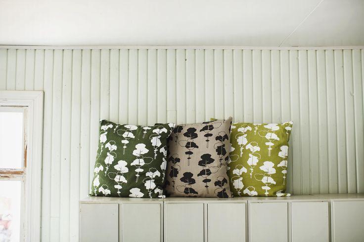Petäjä (Pine) cushions. Design by Riikka Kaartilanmäki 2011.
