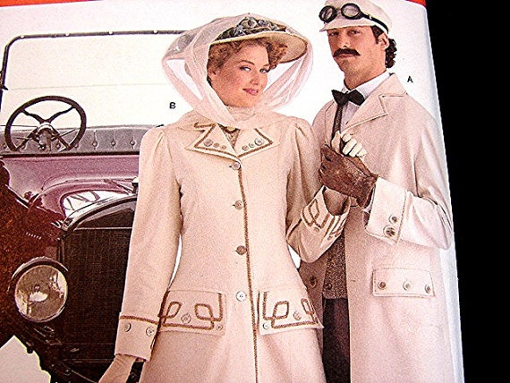 Womens and Mens Steampunk Victorian Hat & Duster Coat Costume Pattern by PatternsFromThePast