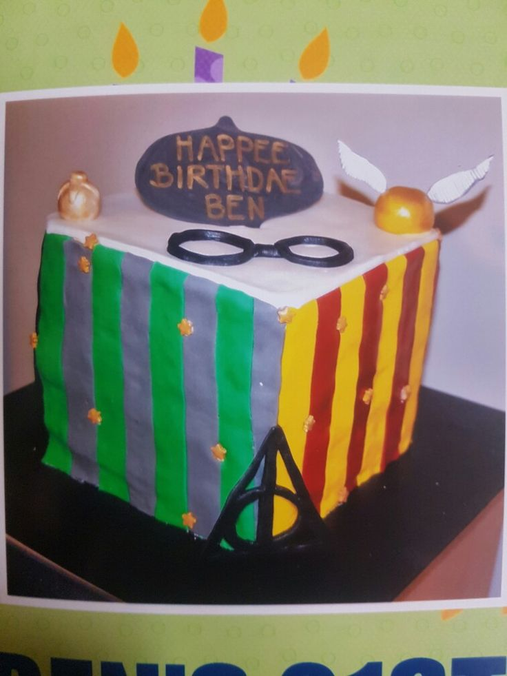 Lime + Coconut Harry Potter Cake!