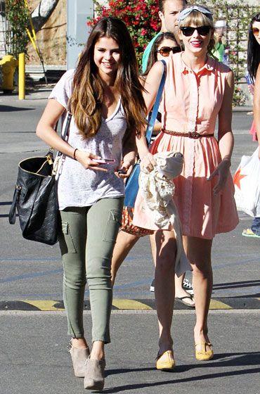 Selena Gomez and Taylor Swift in Malibu,CA