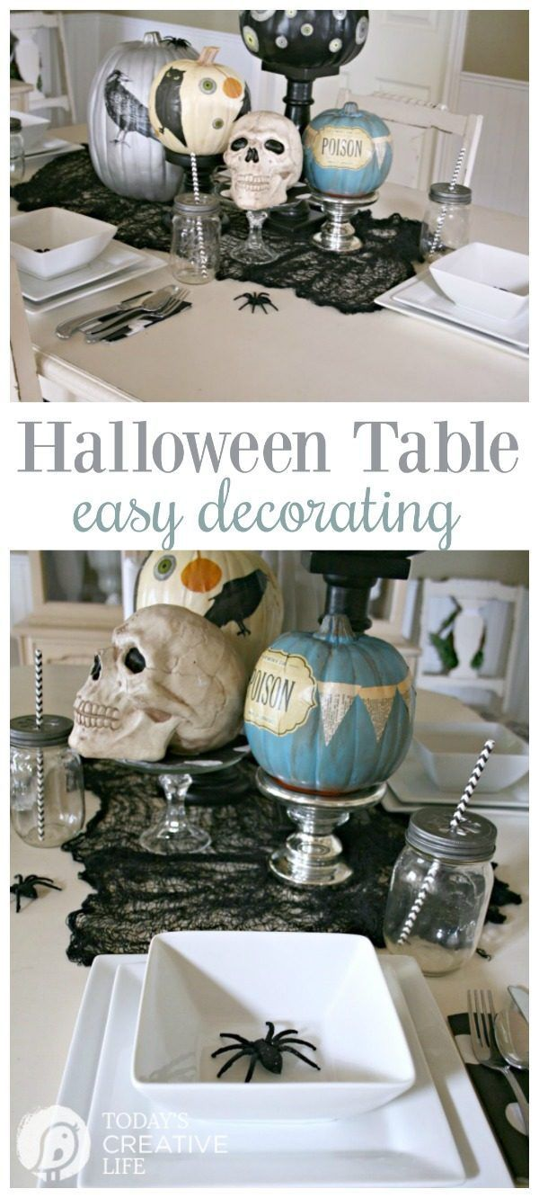 halloween table centerpiece - Halloween Table Decorations Ideas