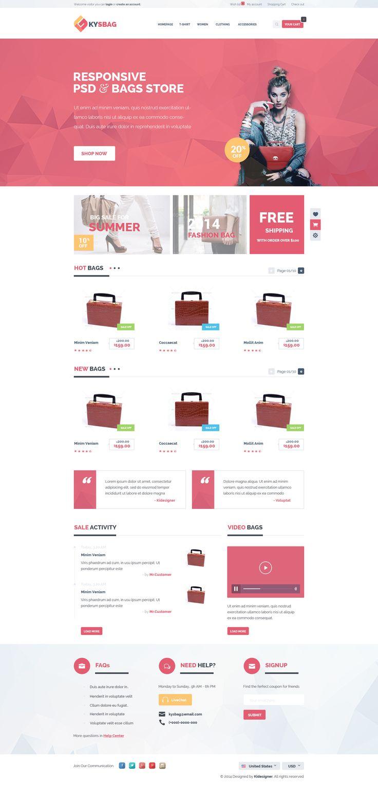 Cassandra cappello graphic design toronto - Kysbag Ecommerce Psd Template