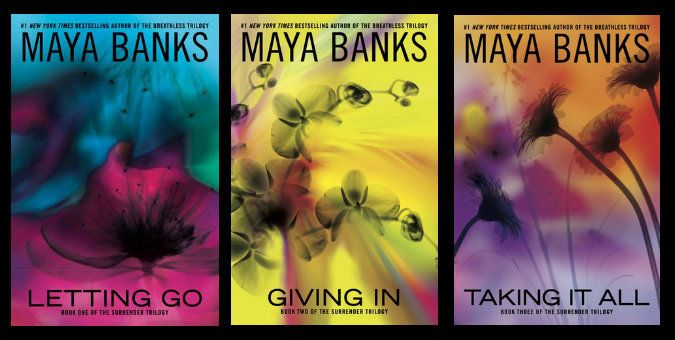 Surrender Trilogy by Maya Banks: http://www.thereadingcafe.com/letting-go-by-maya-banks-review-interview-and-giveaway/