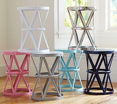 I like the navy one, but I may want a side table with at least one small drawer for storage.... Jordan Metal Side Table #pbkids