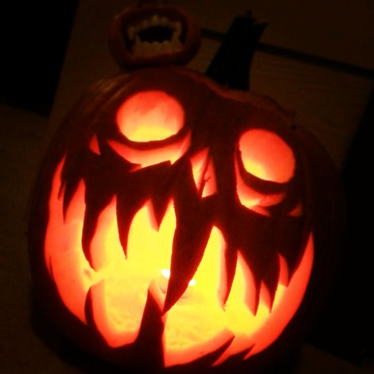 Spooky pumpkin! Carved my yours truly!